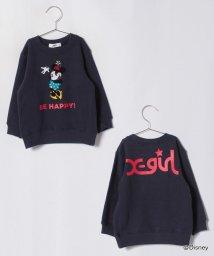 X-girl Stages/DISNEYミニーマウス裏毛トレーナー/501122088