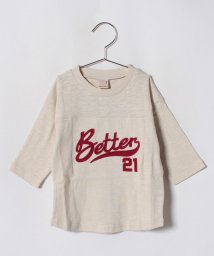 petit main/ベースボール風ロゴTシャツ/501122060