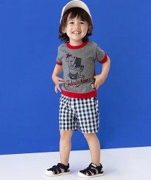petit main/ワンちゃんプリントリンガーTシャツ/501122061