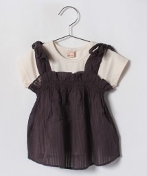 petit main/肩リボンチュニック×クルーネックTシャツ/501122069