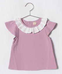 petit main/ボックスプリーツ衿Tシャツ/501122071