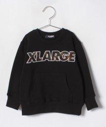 XLARGE KIDS/カモロゴ クルーネックLSスウェット/501122096