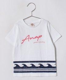 ANAP KIDS/波柄プリントTシャツ/501125508