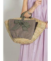 STYLE DELI/【MAISON CONNIE】02-cross wrap ribbon basket bag/501135252