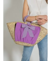 STYLE DELI/【MAISON CONNIE】02-cross wrap ribbon basket bag/501135252