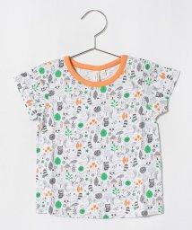 LAGOM/アニマル総柄Tシャツ/501110057