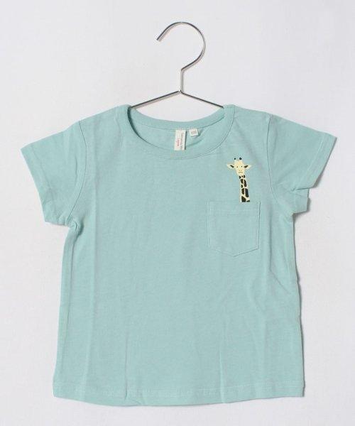LAGOM(ラーゴム)/アニマルポケットTシャツ/1206830241411