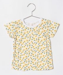 LAGOM/花柄プリントTシャツ/501110059