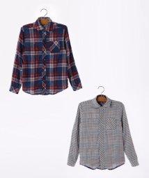 SHIPS KIDS/SHIPS KIDS:チェック リバーシブル 長袖 シャツ(145~160cm)/501136084