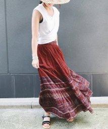 SLOBE IENA/SARA MALLIKA コットンマキシロングスカート/501136878