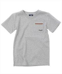 GLAZOS/レザーデザインポケット半袖Tシャツ/501137407
