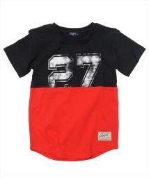 GLAZOS/カラーブロック半袖Tシャツ/501137409