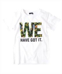 GLAZOS/ボタニカルロゴデザイン半袖Tシャツ/501137413