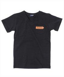 GLAZOS/レザーパッチポケット半袖Tシャツ/501137414