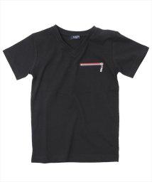 GLAZOS/ファスナーデザイン半袖Tシャツ/501137415