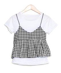 salus/ギンガムチェックキャミ付きTシャツ/501138804