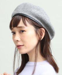 ViS/合皮パイピングフェルトベレー帽/501139156