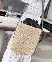 miniministore/かごバッグ レディース ストローバッグ 斜め掛け 巾着 筒形 ワンショルダーバッグ 夏/501139971