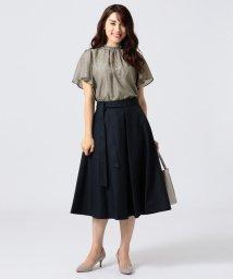 KUMIKYOKU(LARGE SIZE)/【撥水加工】タスランチノクロス スカート/501140089