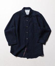 NOLLEY'S goodman/ハードマンズリネン/フレンチリネン パラシュート七分袖シャツ/500908338