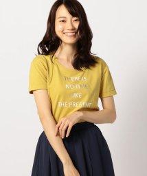 MISCH MASCH/折り返し袖箔プリントTシャツ/501098811
