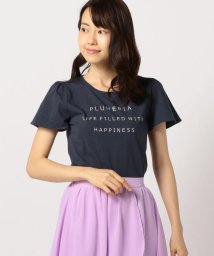 MISCH MASCH/フレア袖ロゴ刺しゅうTシャツ/501098812