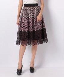 axes femme/グラデーション刺繍スカート/501134040