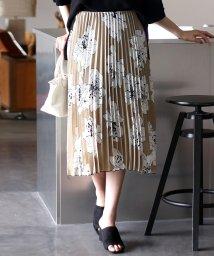 Bou Jeloud/単色フラワープリーツスカート/501135317