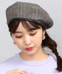 ViS/グレンチェックパイピングベレー帽/501139157