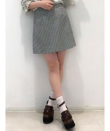 dazzlin/ギンガムチェックミニ台形スカート/501140760