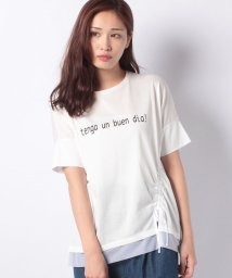 CARA O CRUZ/ドロストデザインTシャツ/501108476