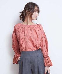 Rouge vif la cle/ヌキテパ Fine Lawn Pintauck Top/501144206