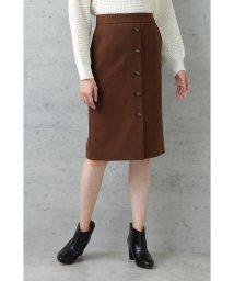 NATURAL BEAUTY BASIC/|美人百花 10月号掲載|〈ウォッシャブル〉フロントボタンストレートスカート/501144102