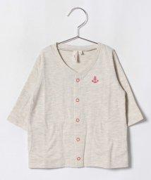 LAGOM/アンカー刺繍七分袖カーディガン/501134030