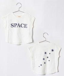 petit main/ロゴフレンチスリーブTシャツ/501136353