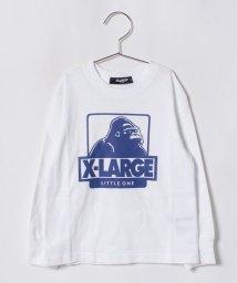 XLARGE KIDS/袖リブOGロゴプリントTシャツ/501136369