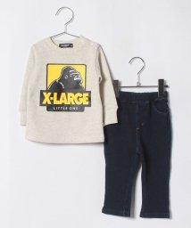 XLARGE KIDS/OGゴリラ裏毛トレーナー×デニム裏毛ロングパンツ/501136373