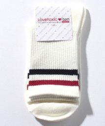 Lovetoxic/ラインリブクルーソックス/501137144
