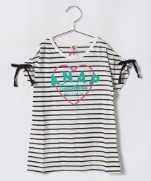 ANAP KIDS/ショルダーシャーリングハートロゴTシャツ/501137153