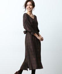 ROPE' mademoiselle/【3WAY】タータンチェックシャツワンピース/501147803