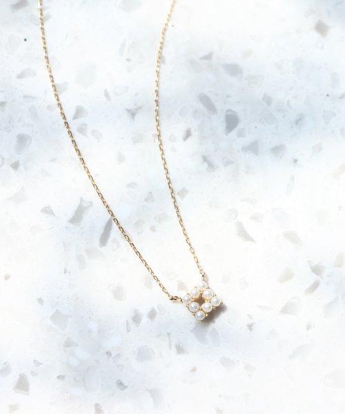 jupiter(ジュピター)/【WEB限定】pearl squareネックレス/191825034