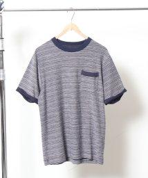 coen/カラーインレイクルーネックTシャツ/501144230