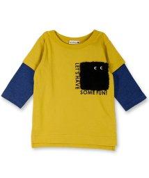 branshes/ボアポケット7分袖Tシャツ/501151040