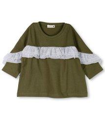 branshes/フリル使い7分袖Tシャツ/501151057