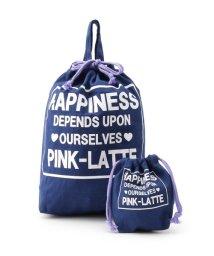 PINK-latte/トートバッグ&巾着 セット/501158226