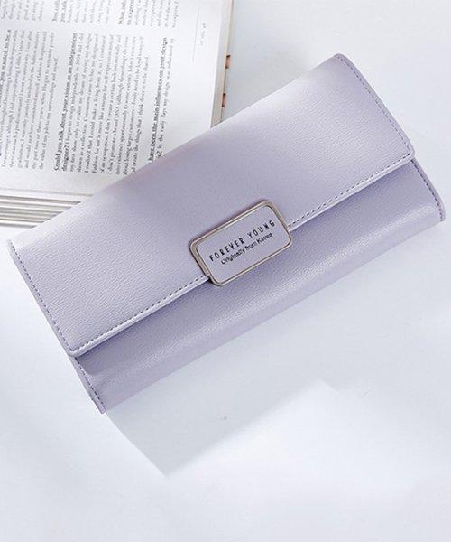 Amulet(アミュレット)/6色シンプル長財布 レディース カラー6色 シンプル 使いやすい 長財布 三つ折り 【vl-5143】/vl-5143