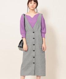 ViS/Iラインチェックジャンパースカート/501160264