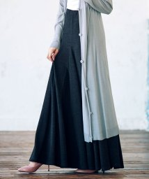 Ranan/裾切替フレアーマキシスカート/501125116