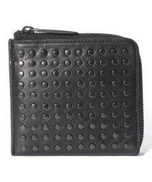 PATRICK STEPHAN/Leather L-zip wallet 'all-studs'/501134221