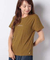 Bou Jeloud/強撚コットンシンプルロゴ刺繍Tシャツ/501145494